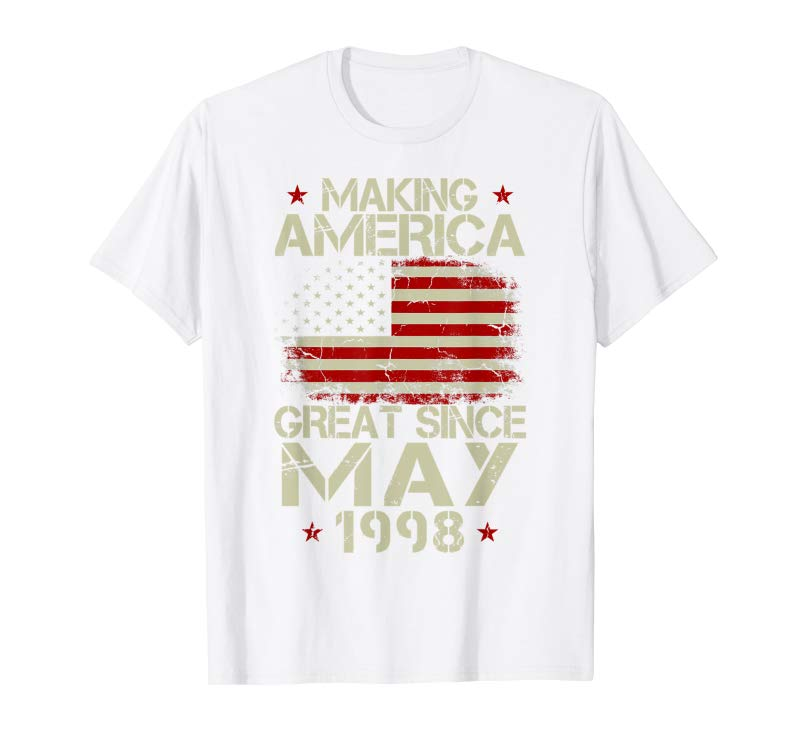Get May 1998 Shirt 21 Years Old 21st Birthday Gift Yrs Tee