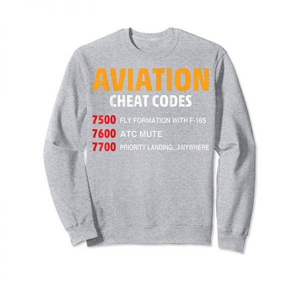 Trending Aviation Cheat Codes Funny Tshirt For Pilots And ATC