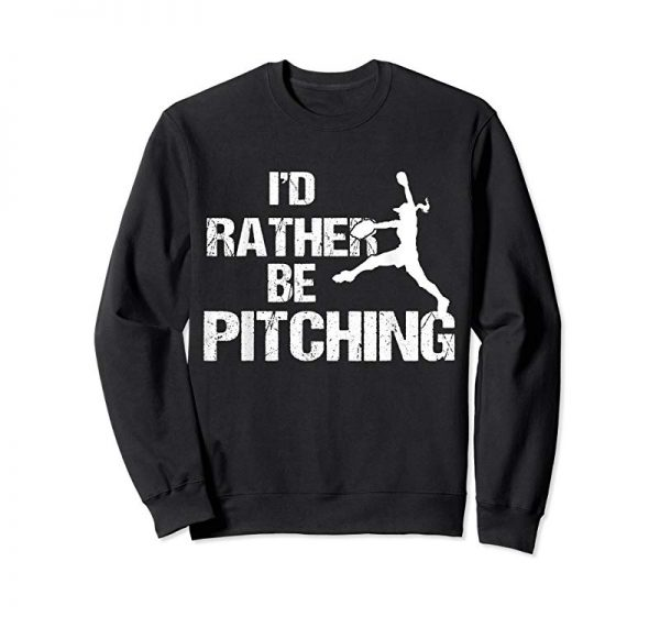 Trending I'd Rather Be Pitching T-Shirt Softball Pitcher Gift