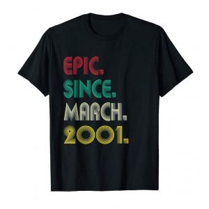 Buy Now Epic Since March 2001 18th Birthday 18 Year Old Decorations