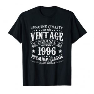 Buy Now Born In 1996 Vintage Birthday T-Shirt - Made In 1996 Shirts