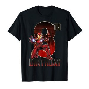 Trends Marvel Iron Man 8th Birthday Action Pose Graphic T-Shirt
