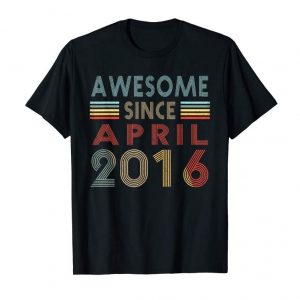 Cool Vintage April 2016 Shirt 3 Years Old 3rd Birthday Gift