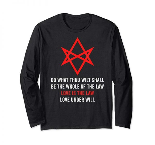 Cool Love Is The Law Thelema Unicursal Hexagram T-Shirt