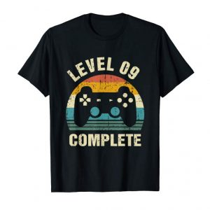 Buy 9th Wedding Anniversary Gifts Level 9 Complete Gamer T-Shirt