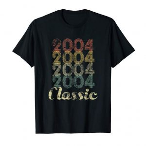 Get 15th Birthday Vintage Gift T-Shirt For Boys Girls Born 2004