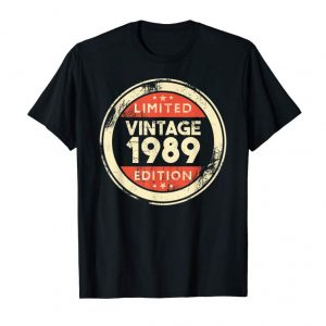 Buy Now 30th Birthday Gift Vintage 1989 Shirt- 30 Years Old T-Shirt