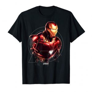 Trending Marvel Avengers Endgame Iron Man Portrait Graphic T-Shirt