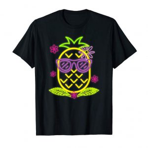 Buy Neon Luau Party Pineapple T-Shirt For Glow Party Costume