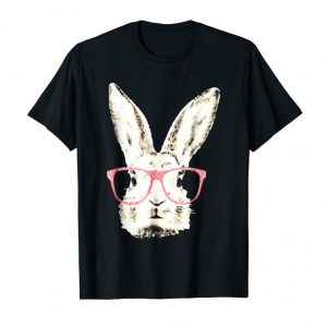 Get Now Cute Bunny Rabbit Pink Glasses Funny Hipster Gift T-Shirt