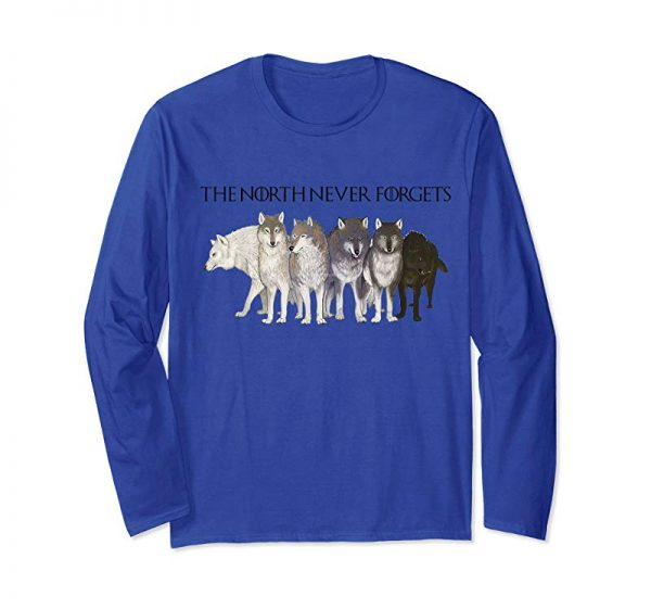 Buy Now Six Direwolves The North Never Forgets T Shirt Funny Gifts