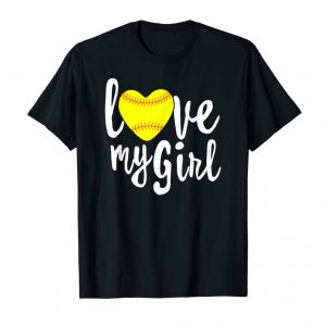 Buy Now I Love My Girls Mom Softball Shirt Cute Softball Mom Shirts