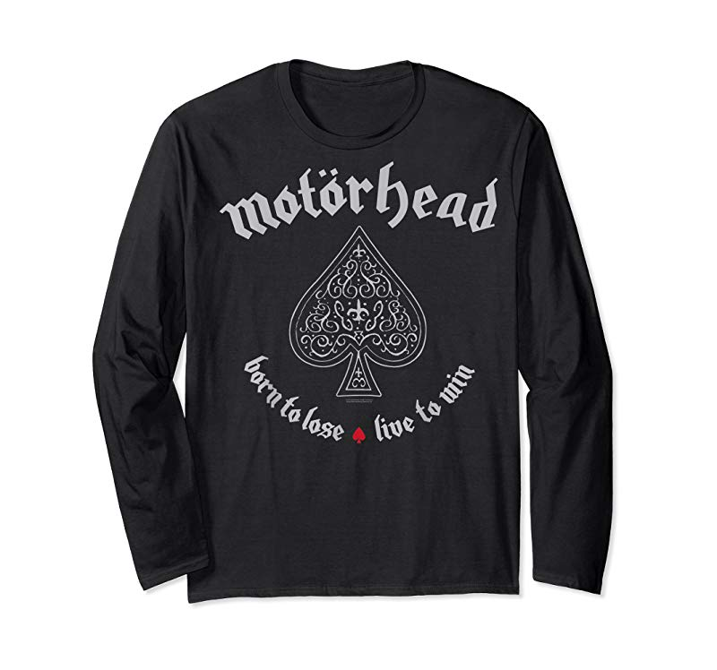 MOTORHEAD cd lgo ACE OF SPADES BORN TO LOSE Official SHIRT M-2XL live to win OOP