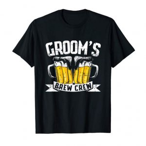 Order Now Groom's Brew Crew T Shirt Funny Bachelor Party Shirt Men's
