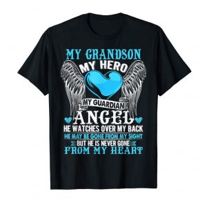 Trending My Grandson,My Hero,My Guardian Angel Gift Birthday TShirt