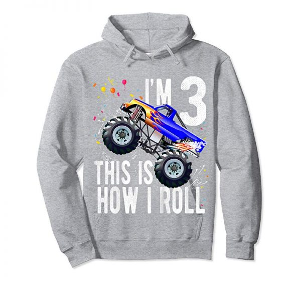 Order Now Kids 3 Year Old Shirt 3rd Birthday Boy Monster Truck Car T