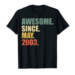 Buy Awesome Since May 2003 T-Shirt Vintage 16th Birthday Gift