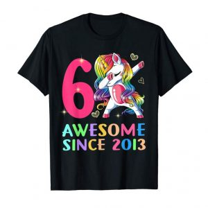 Buy 6 Years Old 6th Birthday Unicorn Dabbing Shirt Girl Party