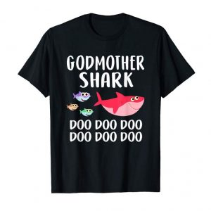 Get Godmother Shark Shirt Mothers Day For Matching Family Tee