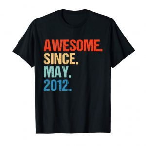 Trends Kids Born In May 2012 T Shirt 7th Birthday Gift Shirt 7 Yrs Old