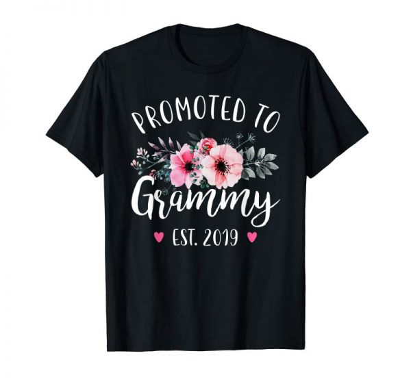 Trending Promoted To Grammy Est 2019 Baby Announcement Shirt
