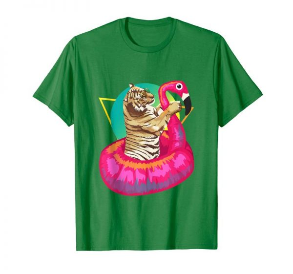 Trending Cool Unique Tiger Chilling In Floating Flamingo Art Gift Tank Top