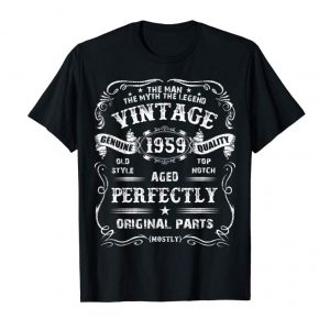 Buy Now Mens Legends 1959 Old Vintage 60th Birthday Gift Retro T-Shirt T-Shirt