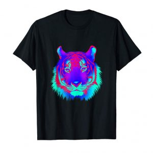Get EDM Electronic Dance Techno Colorful Rave Party Tiger Tank Top