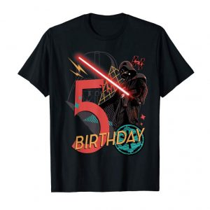 Trends Star Wars Darth Vader 5th Birthday Abstract Background T-Shirt