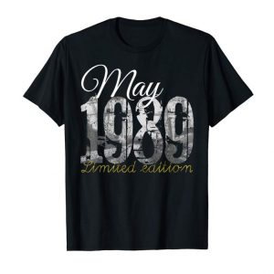 Order Now May 1989 Tee - 30 Year Old Shirt 1989 30th Birthday Gift