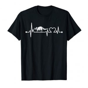 Order Triceratopus Heartbeat T-Shirt Funny Dinosaur Gift