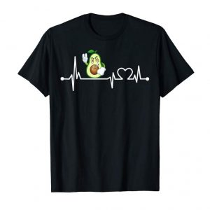 Cool Avocado Heartbeat T-Shirt Funny Baker Cool Lover Gift