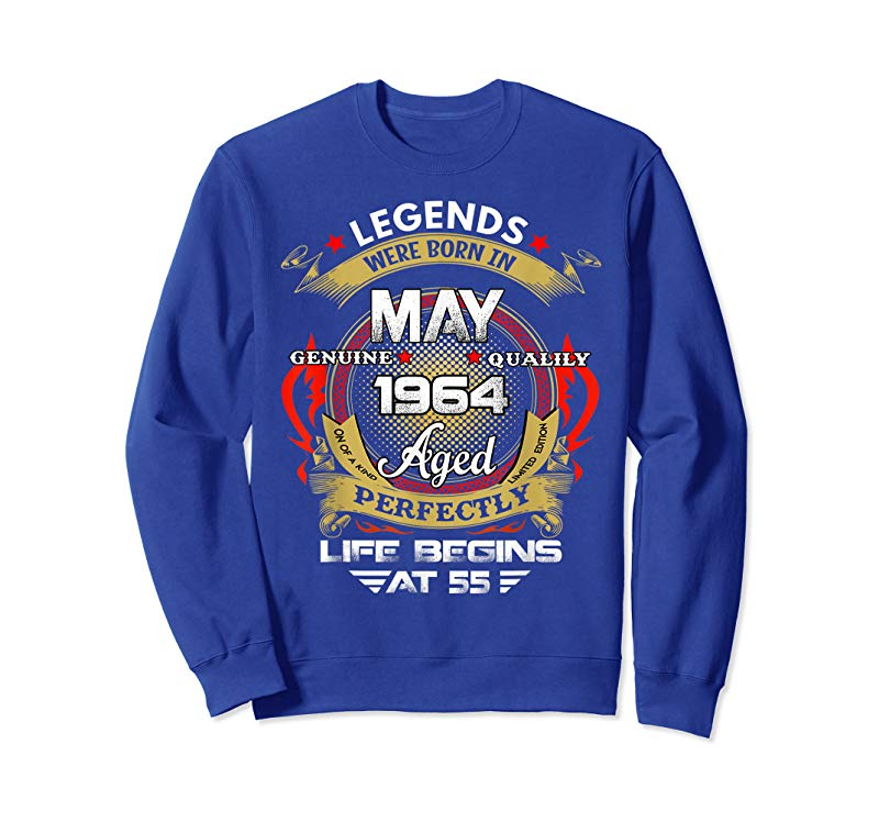 Trends Legend Born May 1964 Shirt 55th Birthday 55 Year Old Gift