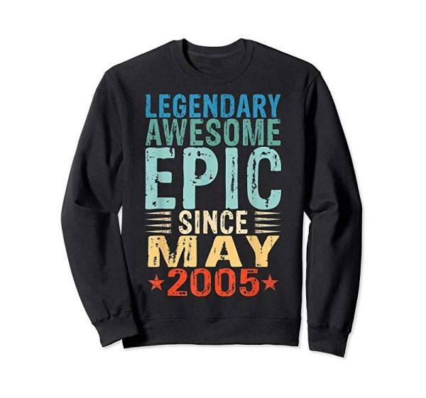 Buy Now Legendary Awesome Epic Since May 2005 14th Birthday Gift Tee