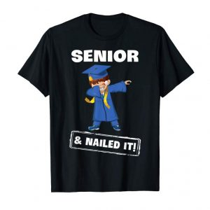 Get Now Senior & Nailed It! Boys Dabbing Shirt Last Day Of School