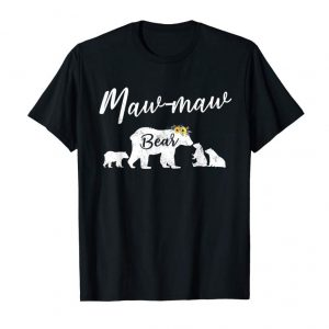 Order Maw-Maw Bear T Shirt With Three Cubs Mother's Day Gift