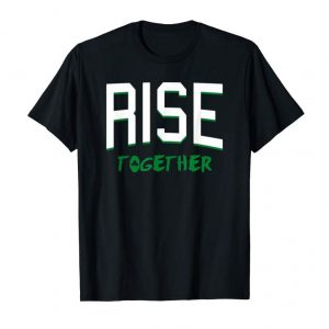 Buy Boston Massachusetts Rise Together Shamrock T-shirt