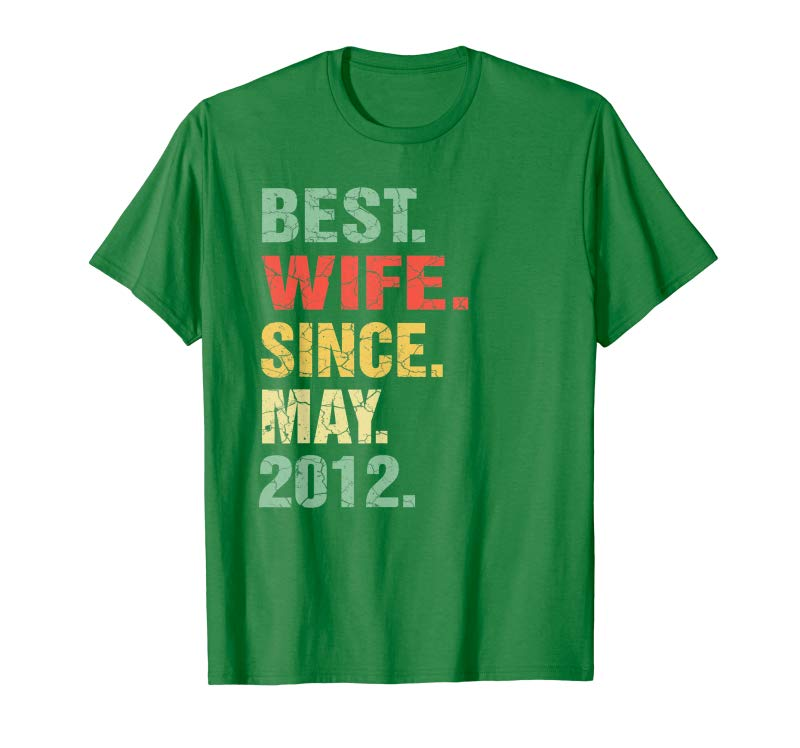 7th Wedding Anniversary.Buy 7th Wedding Anniversary Gifts Best Wife Since May 2012 Tees Design