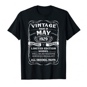 Trending Classic Made In May 1929 Limited Edition Birthday Shirt