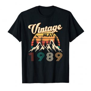 Buy 30th Birthday Gifts Retro Vintage May 1989 T-Shirt