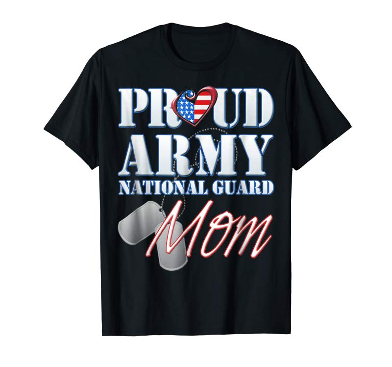Order Proud Army National Guard Mom USA Heart Shirt Mothers Day