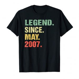 Trending Legend Since May 2007 12th Birthday Gift 12 Years Old Shirt