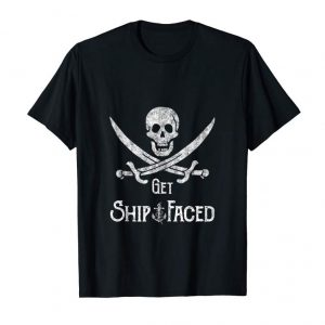 Cool Get Ship Faced - Adult Humor Pirate Skull Distressed Gift Tank Top