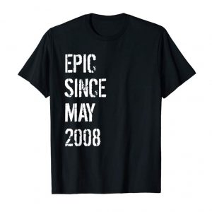 Buy Now Born In May 2008 Birthday Gift T-Shirt 11 Year Old