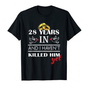 Buy 28 Years Wedding Anniversary Gift For Married Couple T-shirt