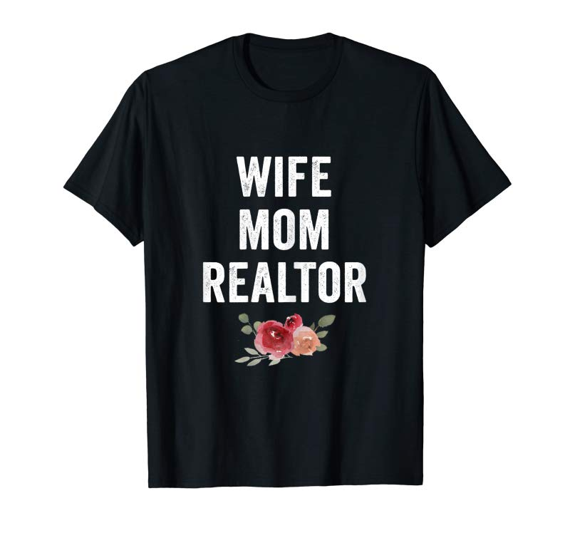 Get Womens Wife Mom Realtor Vintage Female T Shirt Cute Birthday Gift