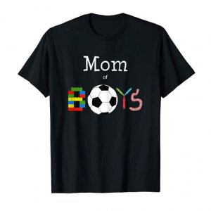 Trending Womens T-shirt Mom Of Boys Graphic Tshirt For Women Mom Gift Shirt