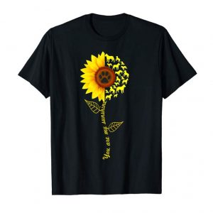 Buy Now You Are My Sunshine Pitbull Dog Paw Sunflower Shirt Dog Love