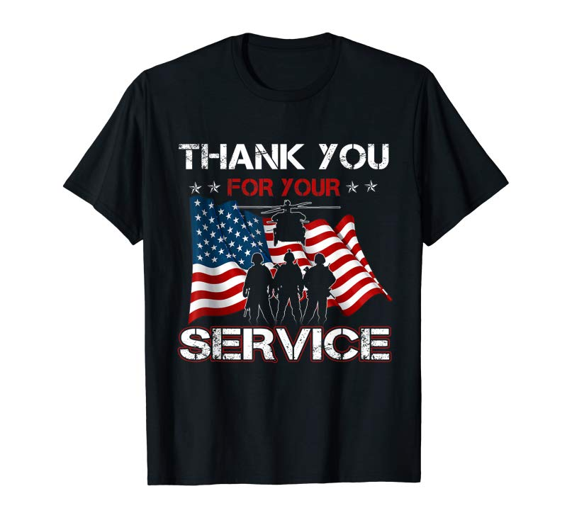 Trends Thank You For Your Service-Veterans Day Tee- Memorial Tshirt Masswerks Store