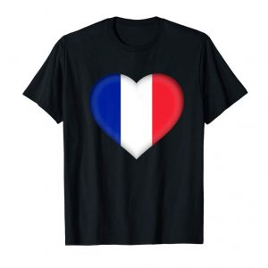 Order I Love France T-Shirt | French Flag Heart Outfit